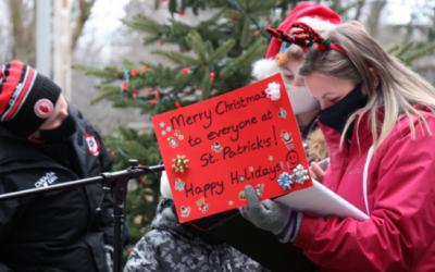 Christmas Carols in the Larry Kelly Family Garden